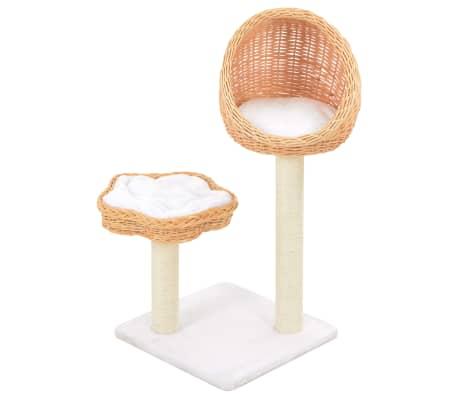 vidaXL Kattenkrabpaal met sisal krabpaal natuurlijk wilgenhout