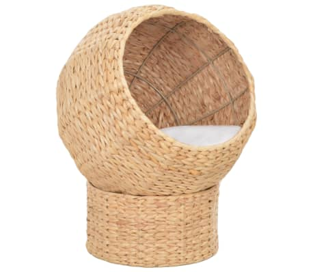 With this handmade cat basket, your cats can relax to their heart's content. Thanks to its cute and compact design, this cat basket will perfectly suit any decor.