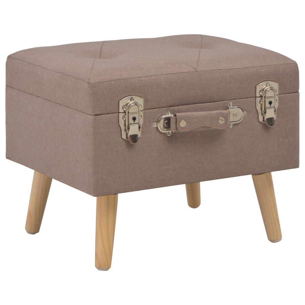 vidaXL Stolička s úložným prostorem 40 cm hnědá textil