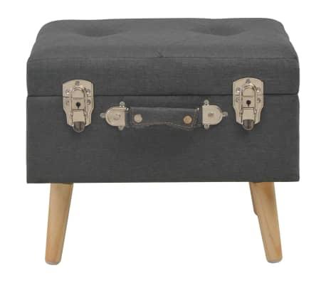 vidaXL Förvaringspall 40 cm mörkgrå tyg[2/9]
