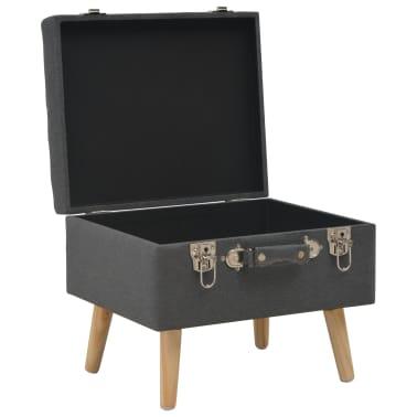 vidaXL Förvaringspall 40 cm mörkgrå tyg[5/9]