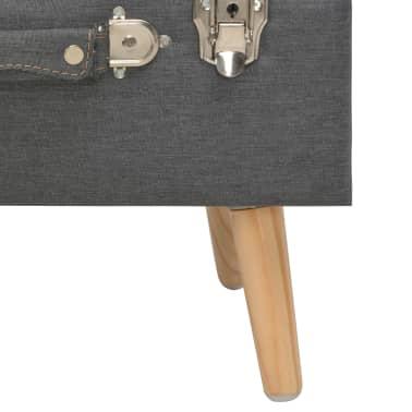 vidaXL Förvaringspall 40 cm mörkgrå tyg[8/9]