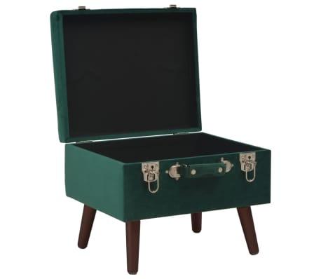 vidaXL Daiktadėžė-taburetė, žalios spalvos, 40cm, aksomas[5/9]