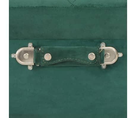vidaXL Daiktadėžė-taburetė, žalios spalvos, 40cm, aksomas[7/9]