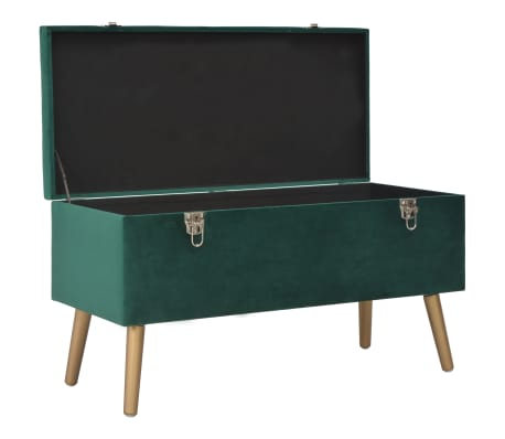 vidaXL Taburei za pohranu 3 kom zeleni baršunasti[13/16]