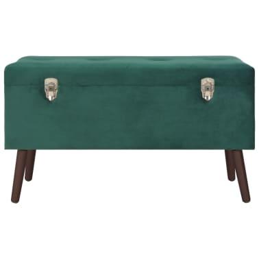 vidaXL Taburei za pohranu 3 kom zeleni baršunasti[11/16]