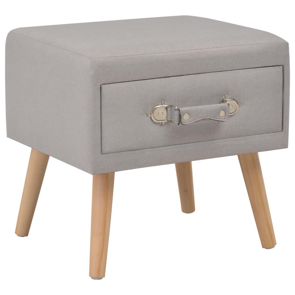 vidaXL Noční stolek šedý 40 x 35 x 40 cm textil
