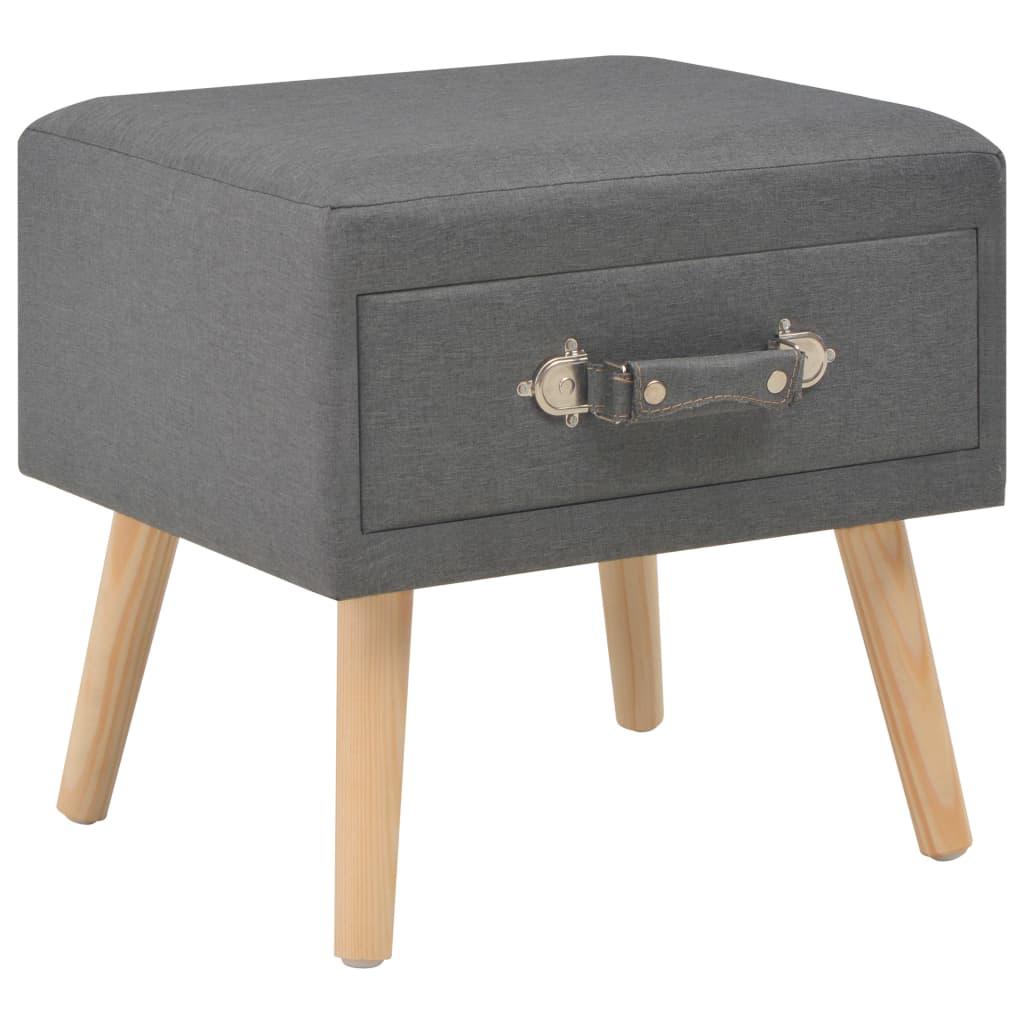 vidaXL Noční stolek tmavě šedý 40 x 35 x 40 cm textil