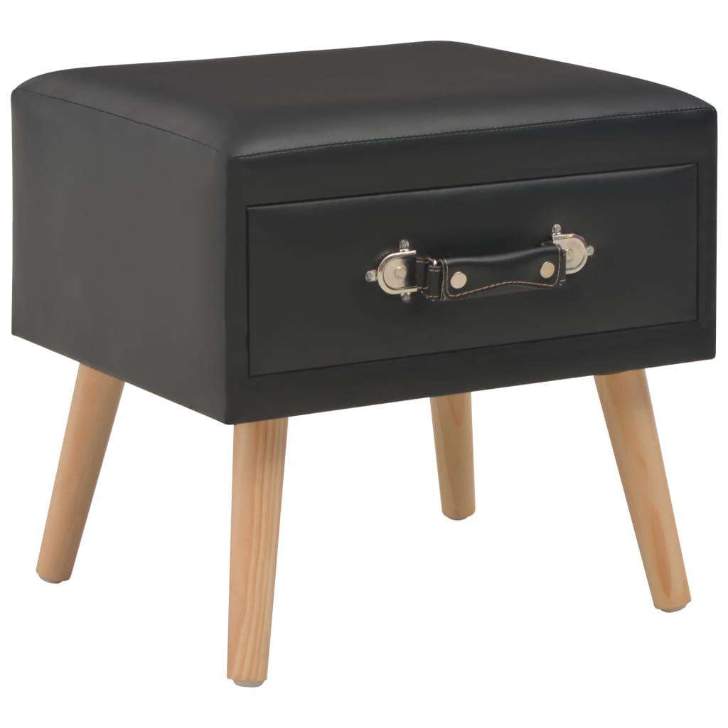 vidaXL Noční stolek černý 40 x 35 x 40 cm umělá kůže