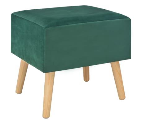 vidaXL Naktinis staliukas, žalias, 40x35x40cm, aksomas[3/8]