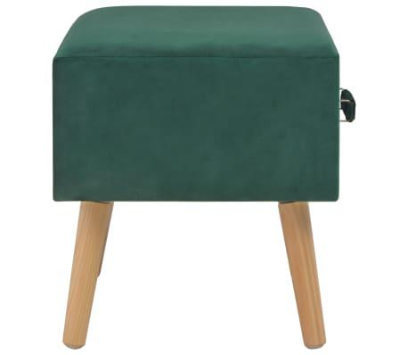 vidaXL Naktinis staliukas, žalias, 40x35x40cm, aksomas[5/8]