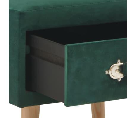 vidaXL Naktinis staliukas, žalias, 40x35x40cm, aksomas[6/8]