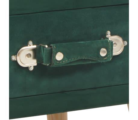 vidaXL Naktinis staliukas, žalias, 40x35x40cm, aksomas[7/8]