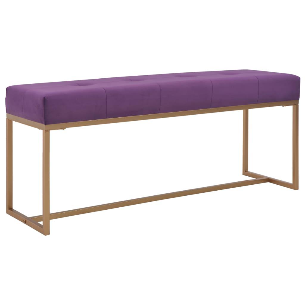 vidaXL Lavice 120 cm fialová sametová