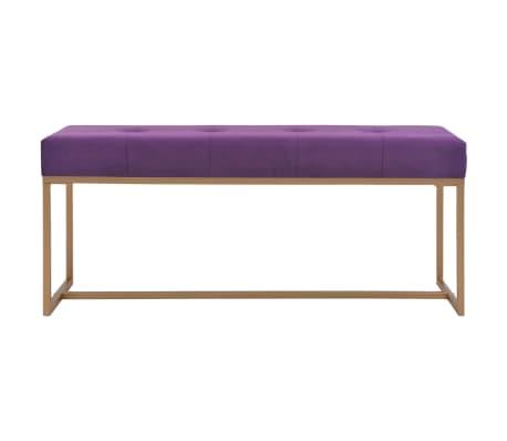 vidaXL Suoliukas, 120cm, violetinis, aksomas[2/5]