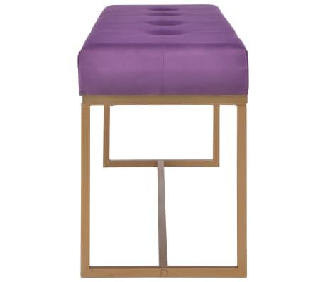 vidaXL Suoliukas, 120cm, violetinis, aksomas[3/5]