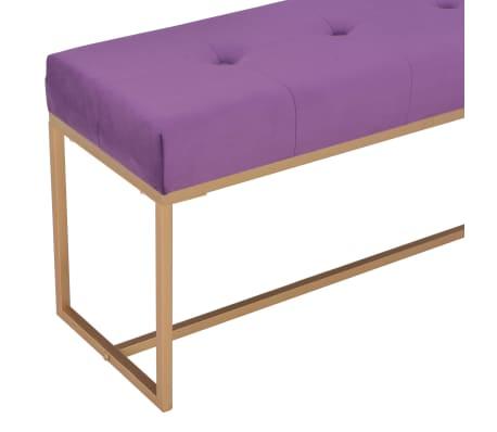 vidaXL Suoliukas, 120cm, violetinis, aksomas[4/5]