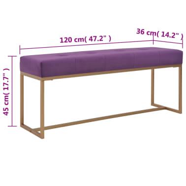 vidaXL Suoliukas, 120cm, violetinis, aksomas[5/5]