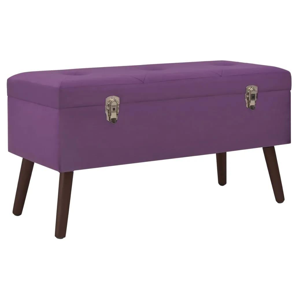 vidaXL Lavice s úložným prostorem 80 cm fialová samet