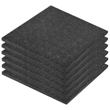 vidaXL Plytelės apsaug. nuo kritimų, 6vnt., juodos, 50x50x3cm, guma[2/6]