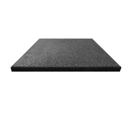 vidaXL Plăci de protecție la cădere 6 buc. negru 50x50x3 cm cauciuc[3/6]
