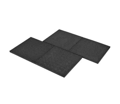 vidaXL Plytelės apsaug. nuo kritimų, 6vnt., juodos, 50x50x3cm, guma[6/6]