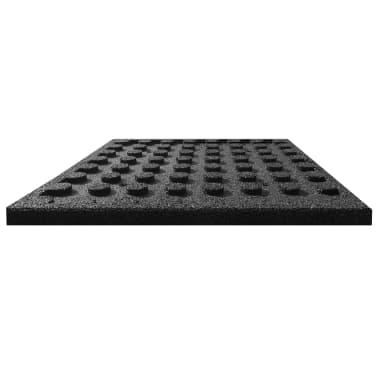 vidaXL Plytelės apsaug. nuo kritimų, 6vnt., juodos, 50x50x3cm, guma[4/6]