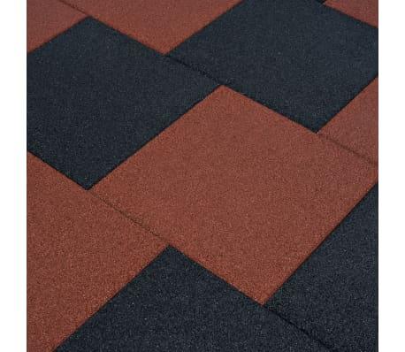 vidaXL Plytelės apsaug. nuo kritimų, 6vnt., juodos, 50x50x3cm, guma[1/6]