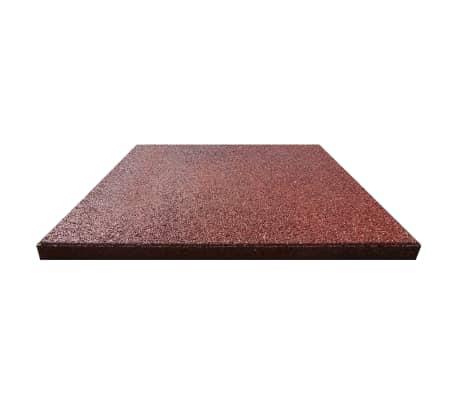 vidaXL Plytelės apsaug. nuo kritimų, 6vnt., raudonos, 50x50x3cm, guma[3/6]