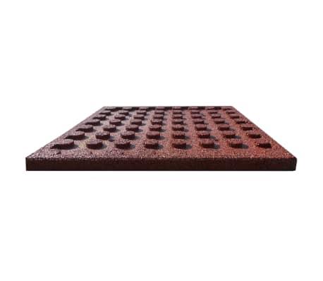 vidaXL Plytelės apsaug. nuo kritimų, 6vnt., raudonos, 50x50x3cm, guma[4/6]