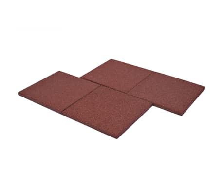 vidaXL Plytelės apsaug. nuo kritimų, 6vnt., raudonos, 50x50x3cm, guma[6/6]