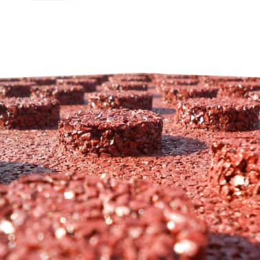 vidaXL Plytelės apsaug. nuo kritimų, 6vnt., raudonos, 50x50x3cm, guma[5/6]