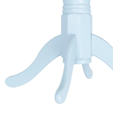 vidaXL Eettafel 106 cm massief rubberwood grijs en bruin[2/5]