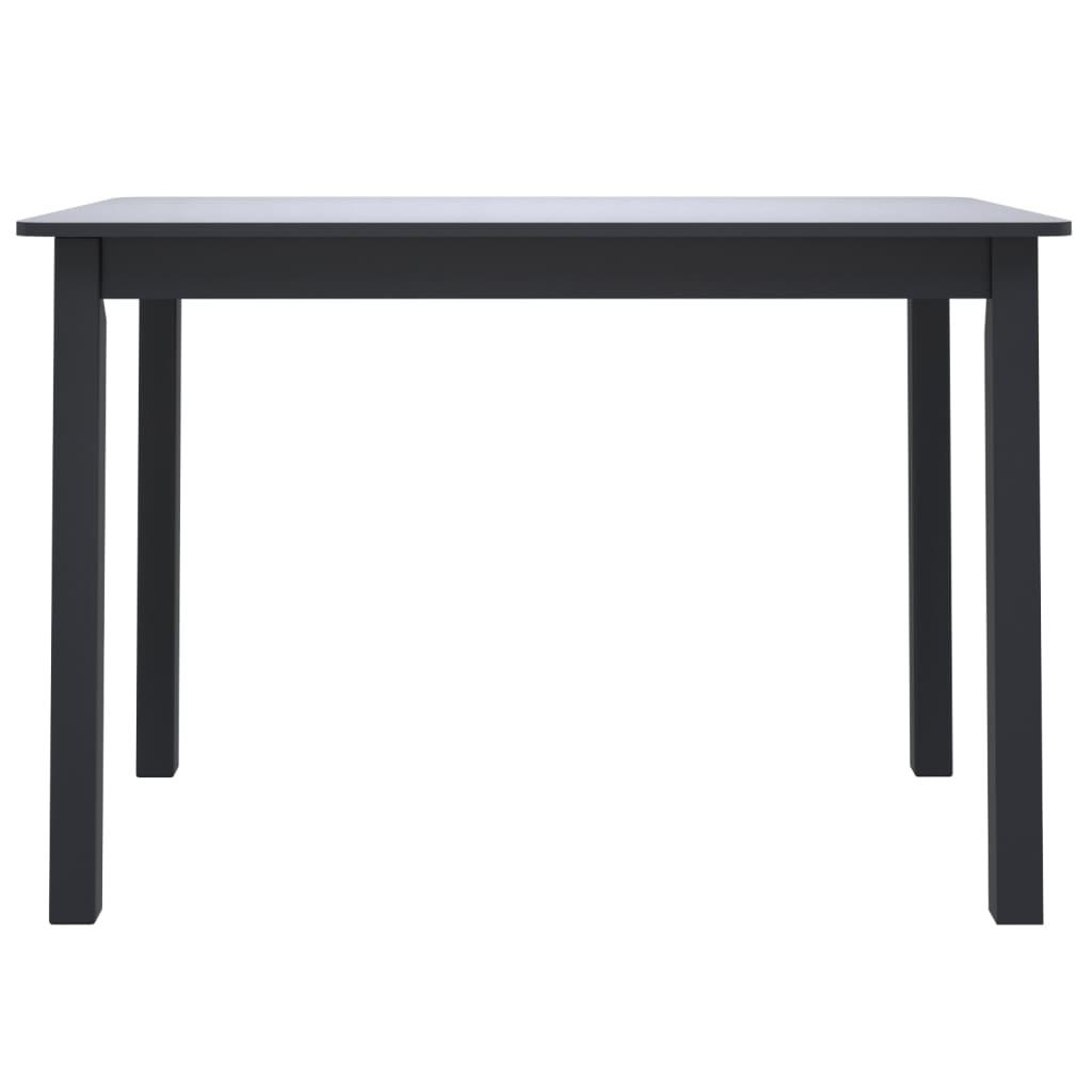 vidaXL Eettafel 114x71x75 cm massief rubberwood zwart