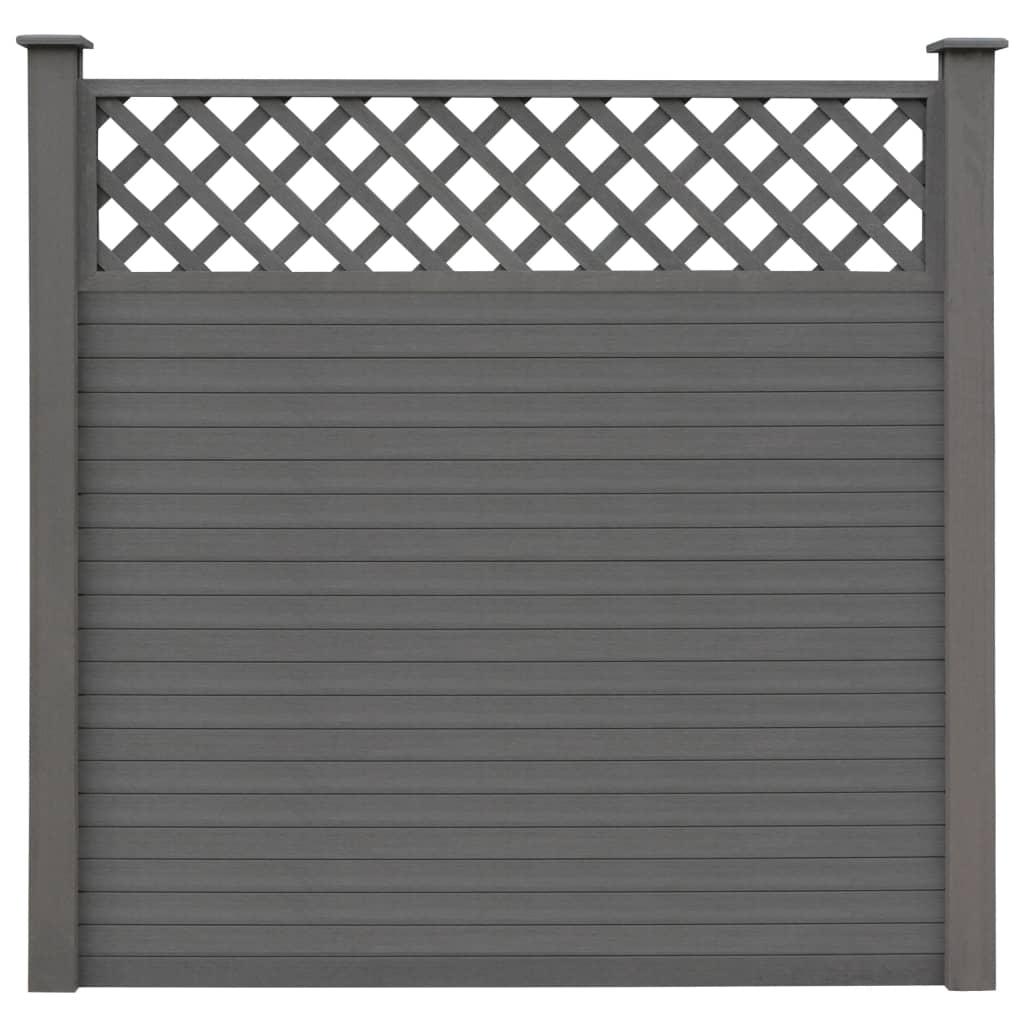 Vidaxl Wpc Zaun Set 183x185cm Grau Sichtschutzzaun Lamellenzaun