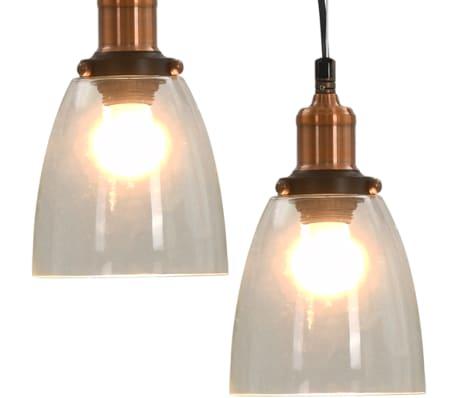 vidaXL Lámparas de techo 2 unidades redondas transparente 14 cm E27