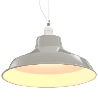 vidaXL Lampes suspendues 2 pcs Blanc Rond E27[6/10]