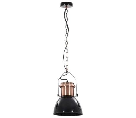 vidaXL Plafondlampen 2 st rond E27 zwart[5/13]