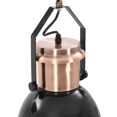 vidaXL Plafondlampen 2 st rond E27 zwart[13/13]