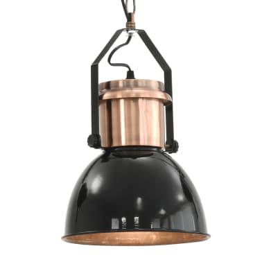 vidaXL Plafondlampen 2 st rond E27 zwart[8/13]