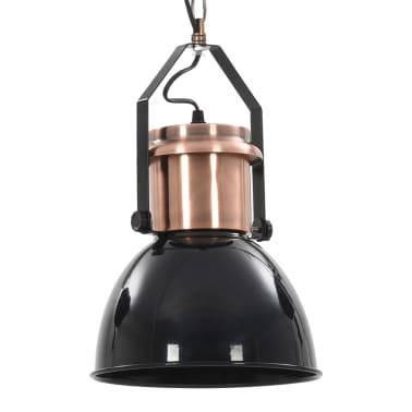 vidaXL Plafondlampen 2 st rond E27 zwart[9/13]