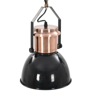 vidaXL Plafondlampen 2 st rond E27 zwart[10/13]