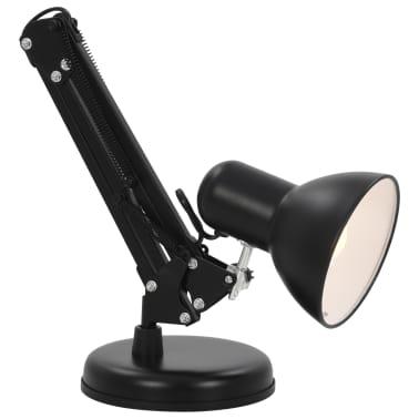 vidaXL Bureaulamp met verstelbare arm E27 zwart[8/13]