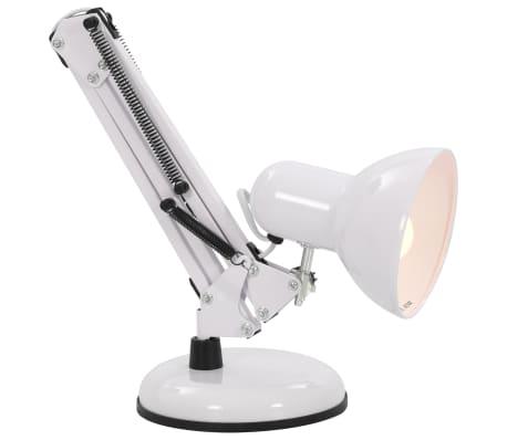 vidaXL Lampe de bureau à bras réglable Blanc E27[8/13]