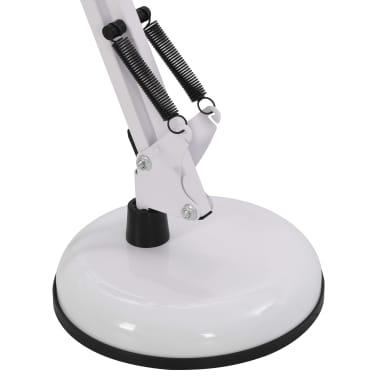 vidaXL Lampe de bureau à bras réglable Blanc E27[12/13]
