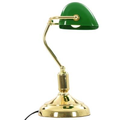vidaXL Lámpara de mesa tipo banquero verde y dorado 40 W[6/13]