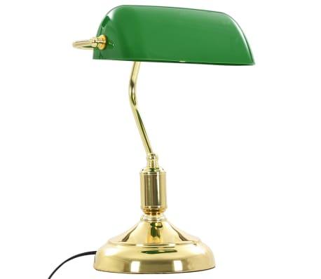 vidaXL Lámpara de mesa tipo banquero verde y dorado 40 W[7/13]