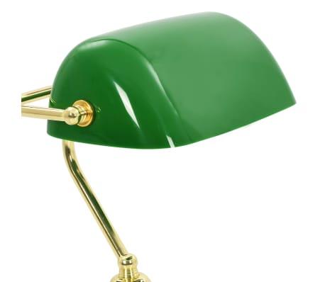 vidaXL Lámpara de mesa tipo banquero verde y dorado 40 W[11/13]