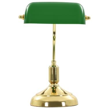 vidaXL Lámpara de mesa tipo banquero verde y dorado 40 W[10/13]