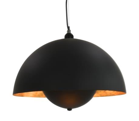 vidaXL 2 pcs Plafonniers Noir et doré Semi-sphérique 30 cm E27[3/12]